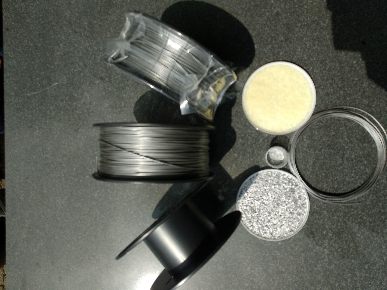 stappen van korrel tot zilver filament